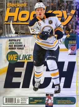 2016 Beckett Hockey Monthly Price Guide (#284 April) (Jack Eichel)