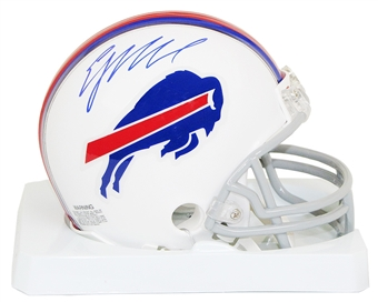 EJ Manuel Autographed Buffalo Bills Mini Football Helmet Panini COA