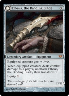 Magic the Gathering Dark Ascension Single Elbrus, the Binding Blade Foil