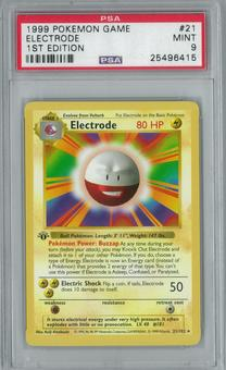 Pokemon Base Set 1 1st Edition Shadowless Single Electrode 21/102 - PSA 9