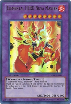 Yu-Gi-Oh Generation Force Single Elemental HERO Nova Master Ultimate Rare