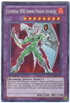 Yu-Gi-Oh Legendary Collection 2 Single Elemental HERO Shining Phoenix Enforcer Secret Rare