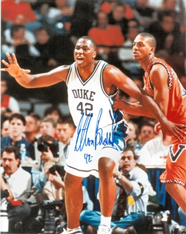 Elton Brand Autographed Duke University Blue Devils 8x10 Photo (Press Pass)