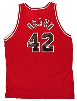 Elton Brand Autographed Chicago Bulls Authentic Champion Jersey (Press Pass)