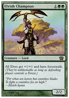Magic the Gathering 8th Edition Single Elvish Champion - SLIGHT PLAY (SP)