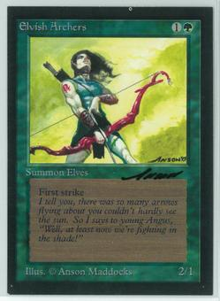 Magic the Gathering Beta Artist Proof Elvish Archers - SIGNED BY ANSON MADDOCKS