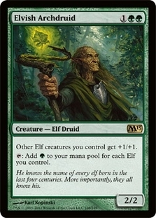 Magic The Gathering 2013 Single Elvish Archdruid - 4x Playset - NEAR MINT (NM)