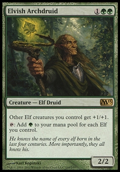 Magic the Gathering 2013 Single Elvish Archdruid - SLIGHT PLAY (SP)