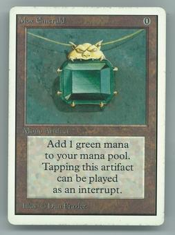 Magic the Gathering Unlimited Single Mox Emerald - SLIGHT PLAY (SP)