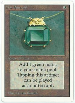 Magic the Gathering Unlimited Single Mox Emerald - NEAR MINT (NM-)