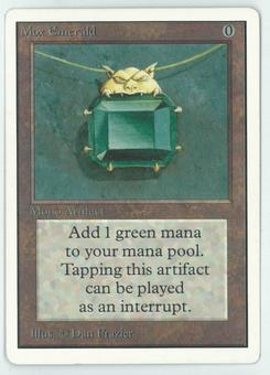 Magic the Gathering Unlimited Single Mox Emerald - NEAR MINT/SLIGHT PLAY (NM/SP)