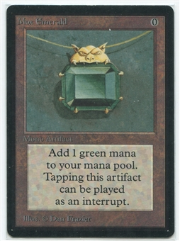 Magic the Gathering Beta Single Mox Emerald - NEAR MINT / SLIGHT PLAY (NM/SP)