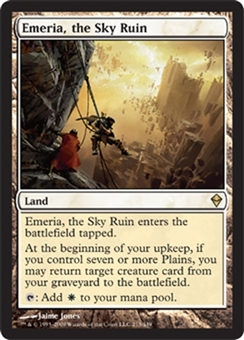 Magic the Gathering Zendikar Single Emeria, the Sky Ruin UNPLAYED (NM/MT)