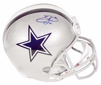 Emmitt Smith Autographed Dallas Cowboys Riddell Replica Full Size Helmet (JSA)