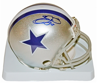Emmitt Smith Autographed Dallas Cowboys Throwback Mini Helmet (Tristar)