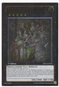 Yu-Gi-Oh Abyss Rising Single Empress of Prophecy Ultimate Rare