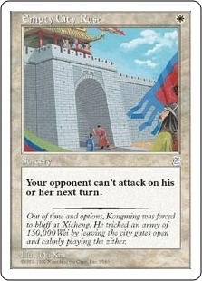 Magic the Gathering Portal 3: 3 Kingdoms Single Empty City Ruse - NEAR MINT (NM)