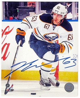 Tyler Ennis Autographed Buffalo Sabres 8x10 Hockey Photo