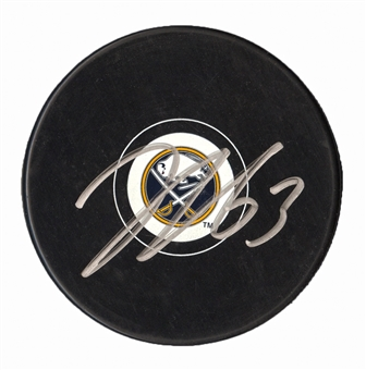 Tyler Ennis Autographed Buffalo Sabres Hockey Puck