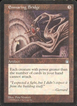 Magic the Gathering Stronghold Single Ensnaring Bridge - SLIGHT PLAY (SP)