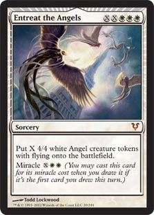 Magic the Gathering Avacyn Restored Single Entreat the Angels - NEAR MINT (NM)