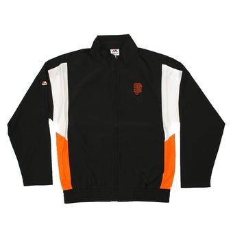 San Francisco Giants Majestic Black Call Maker Full Zip Lightweight Jacket (Adult L)