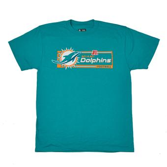Miami Dolphins Majestic Aqua Critical Victory VII Tee Shirt