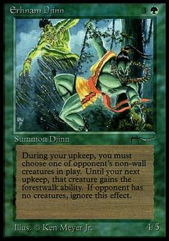 Magic the Gathering Arabian Nights Single Erhnam Djinn - HEAVY PLAY (HP)