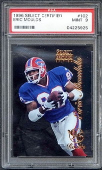 1996 Select Certified Football #102 Eric Moulds Rookie PSA 9 (MINT) *5925