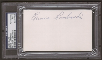 Ernie Lombardi Autograph (Index Card) PSA/DNA Certified *7905