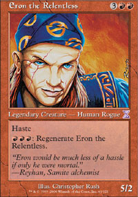 Magic the Gathering Homelands Single Eron the Relentless LIGHT PLAY (NM)