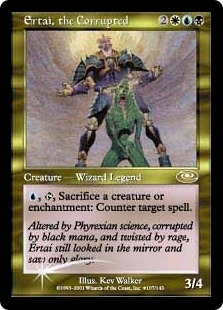 Magic the Gathering Planeshift Single Ertai, the Corrupted ALTERNATE FOIL - NEAR MINT