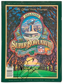 Emmitt Smith Autographed Dallas Cowboys Super Bowl XXVIII Official Program (Emmitt Inc)
