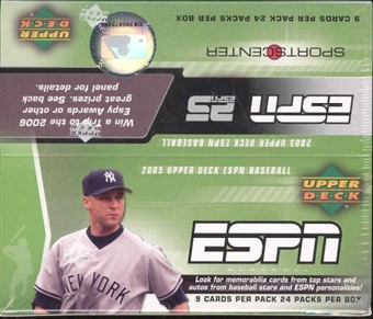 2005 Upper Deck ESPN Baseball Hobby Box