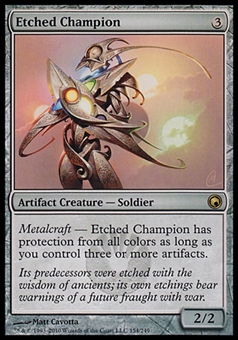 Magic the Gathering Scars of Mirrodin Single Etched Champion FOIL - NEAR MINT (NM)