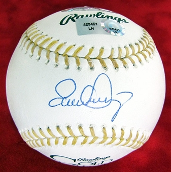 Evan Longoria Autographed Gold Glove Official Major League Baseball Steiner
