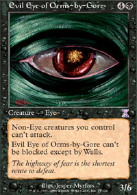 Magic the Gathering Legends Single Evil Eye of Orms-by-Gore - SLIGHT PLAY (SP)