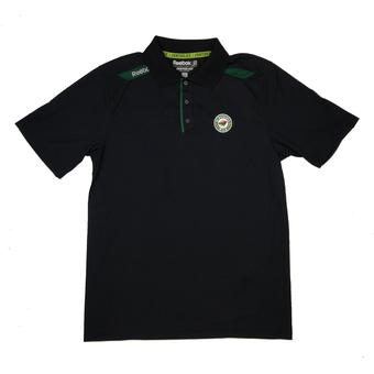 Minnesota Wild Reebok Black Center Ice Performance Polo (Adult L)