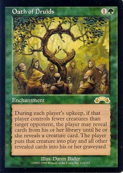 Magic the Gathering Exodus Single Oath of Druids - NEAR MINT (NM)