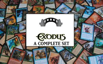 Magic the Gathering Exodus A Complete Set NEAR MINT / SLIGHT PLAY