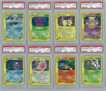 Pokemon Expedition Near-Complete Set (no basic energy) - All Holos PSA Graded Avg 9+ MINT