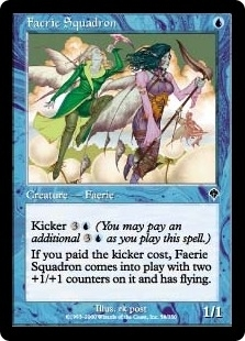 Magic the Gathering Invasion Single Faerie Squadron Foil
