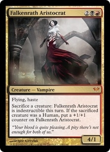 Magic the Gathering Dark Ascension Single Falkenrath Aristocrat Foil