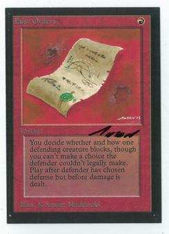 Magic the Gathering Beta Artist Proof False Orders - SIGNED BY ANSON MADDOCKS