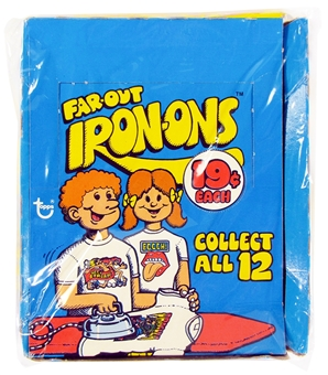 1975 Topps Far-Out Iron-Ons Wax Box