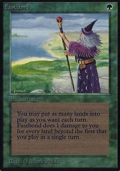 Magic the Gathering Alpha Single Fastbond - SLIGHT PLAY (SP)