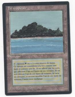 Magic the Gathering 3rd Ed (FBB) Single Tropical Island (French) - SLIGHT PLAY (SP)