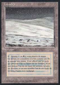 Magic the Gathering 3rd Ed. (Revised) FRENCH Single Tundra (FBB) - SLIGHT PLAY (SP)