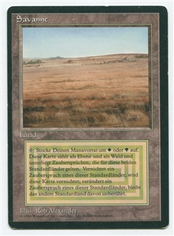 Magic the Gathering 3rd Ed (Revised) FBB GERMAN Single Savannah - SLIGHT PLAY (SP)