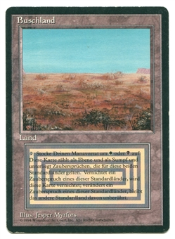 Magic the Gathering 3rd Ed./Revised Single Scrubland FBB GERMAN - MODERATE PLAY (MP)